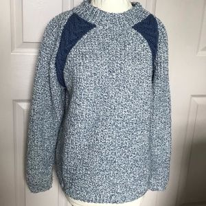 Vintage hand knit cable sweater